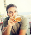 Young man drinking beer - PhotoDune Item for Sale