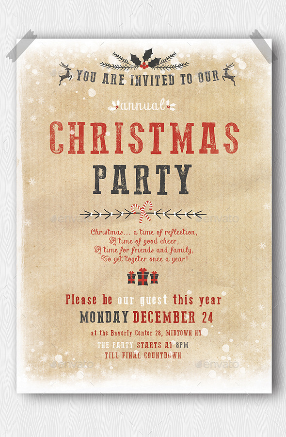 GraphicRiver Christmas Party Flyer 9764227