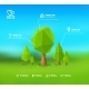 Modern Infographic Design with Lowpoly Tree - GraphicRiver Item for Sale