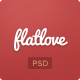 Flatlove - Flat One Page Wedding Psd Template - Personal PSD Templates