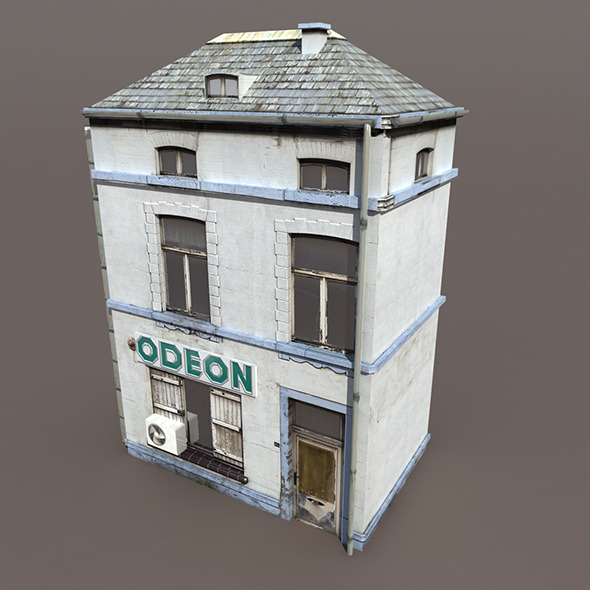 Apartment House #107 Low poly 3d Model - 3DOcean Item for Sale