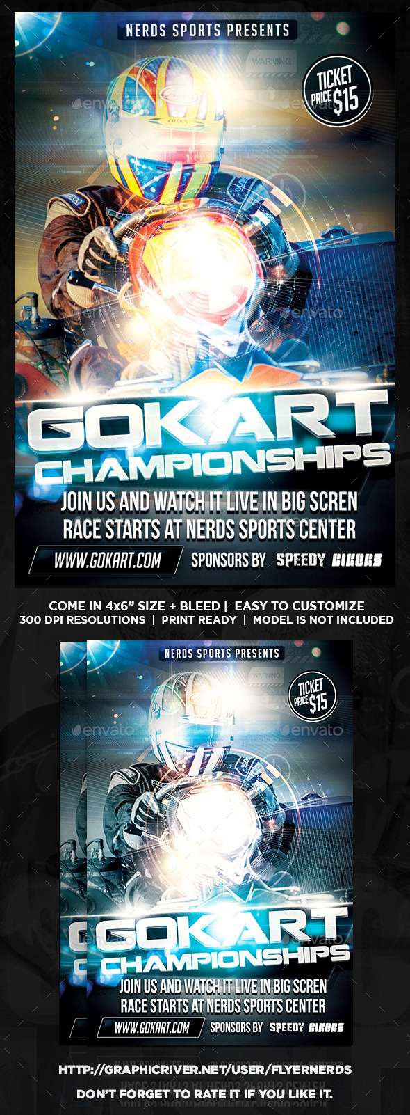 GraphicRiver Gokart 2015 Championships Sports Flyer 9764318