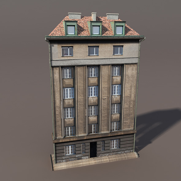 3DOcean Apartment House #109 Low Poly 3D Model 9764392