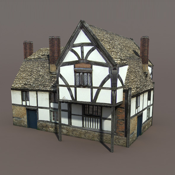 Medieval Building #112 Low poly 3d Model - 3DOcean Item for Sale