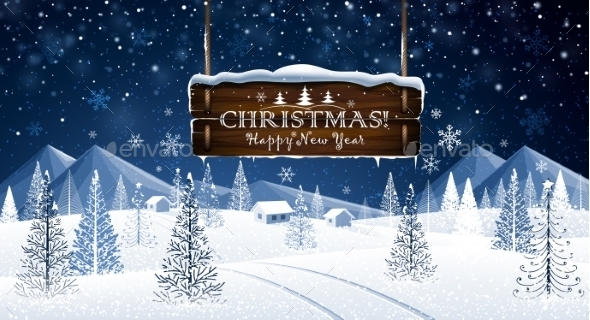 GraphicRiver Christmas Background 9764532