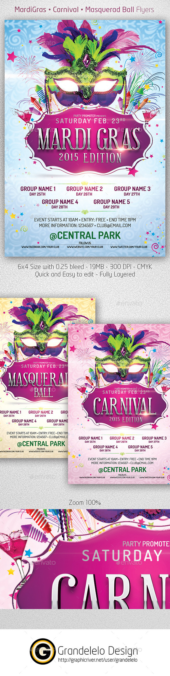 GraphicRiver Mardi Gras 2015 The Poster Template 9764847