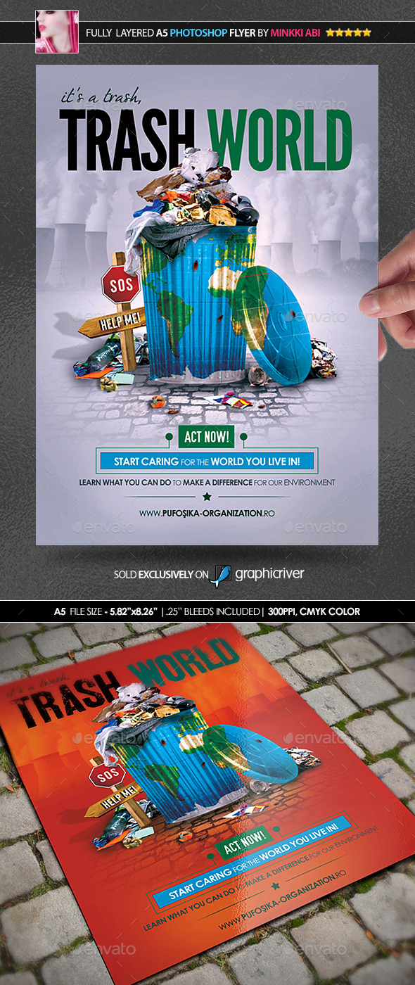 GraphicRiver Trash World Poster Flyer 9385266