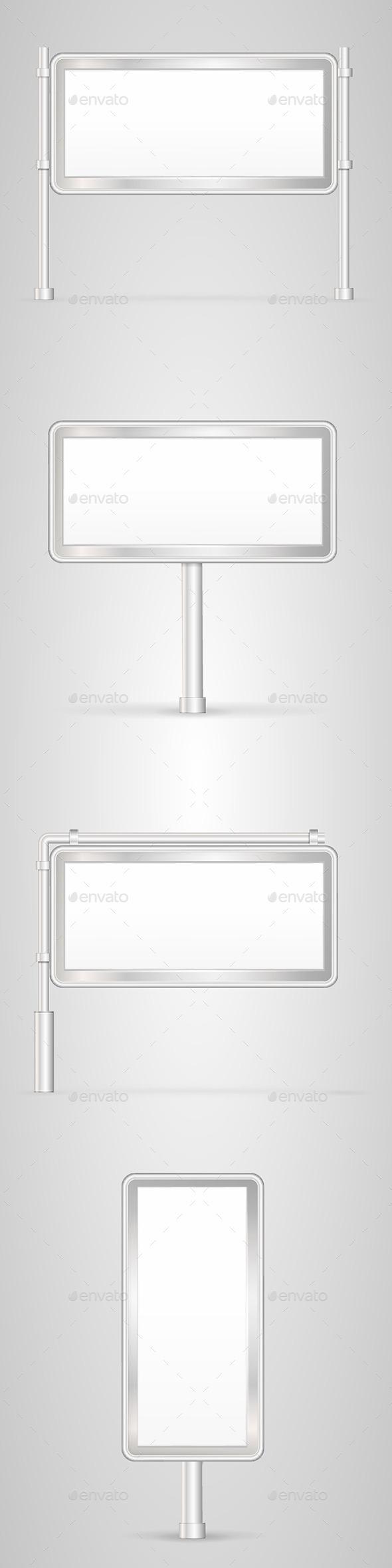 GraphicRiver Set of Blank City Light Frames 9765716