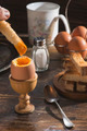 Soft-boiled egg on the table - PhotoDune Item for Sale