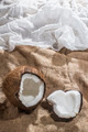 Coconut on burlap - PhotoDune Item for Sale