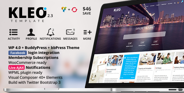 KLEO – Next level Premium WordPress Theme - BuddyPress WordPress