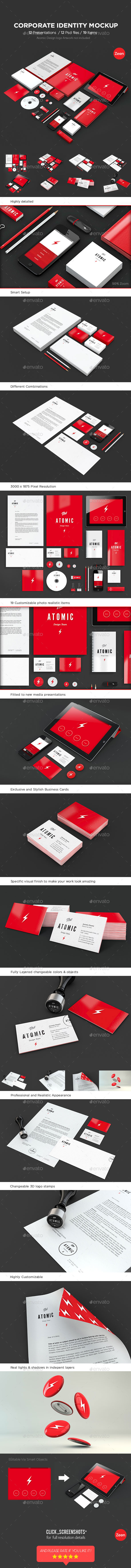 Corporate Identity Mockup Bundle - Print Product Mock-Ups