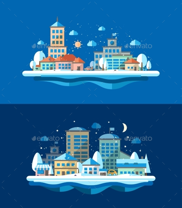 GraphicRiver Winter Landscape 9766292