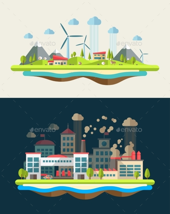 GraphicRiver Ecological Landscapes 9766315