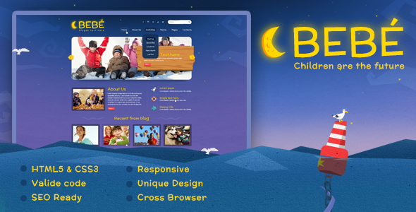 BeBe HTML5 Responsive Template - Children Retail