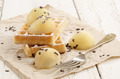 warm waffle with melon balls - PhotoDune Item for Sale