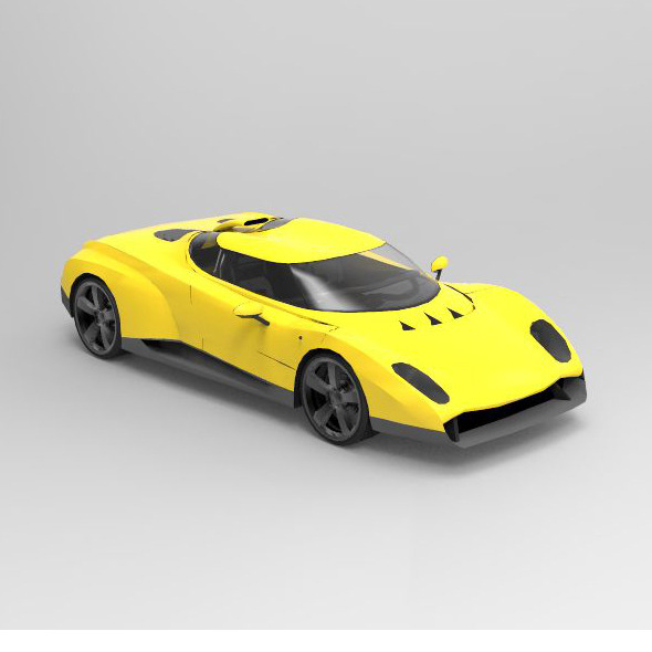 Concept Car 1996 Zagato Raptor - 3DOcean Item for Sale