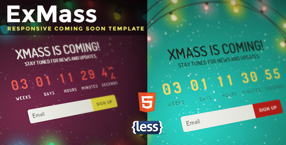 ThemeForest ExMass Responsive Holiday Coming Soon 9766473