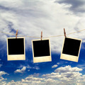 Old instant photos on the background of the sky with clouds  - PhotoDune Item for Sale