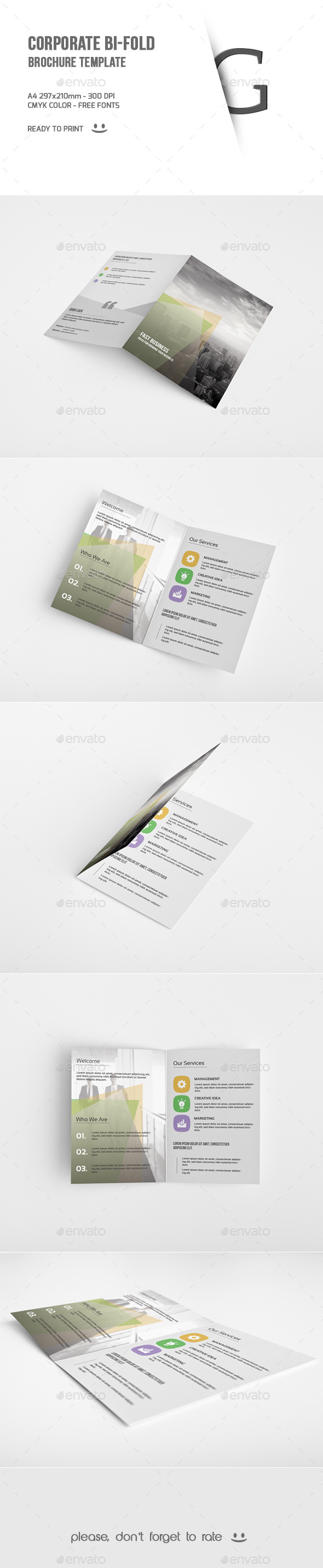 GraphicRiver Corporate Bi-Fold Brochure Template 9712396