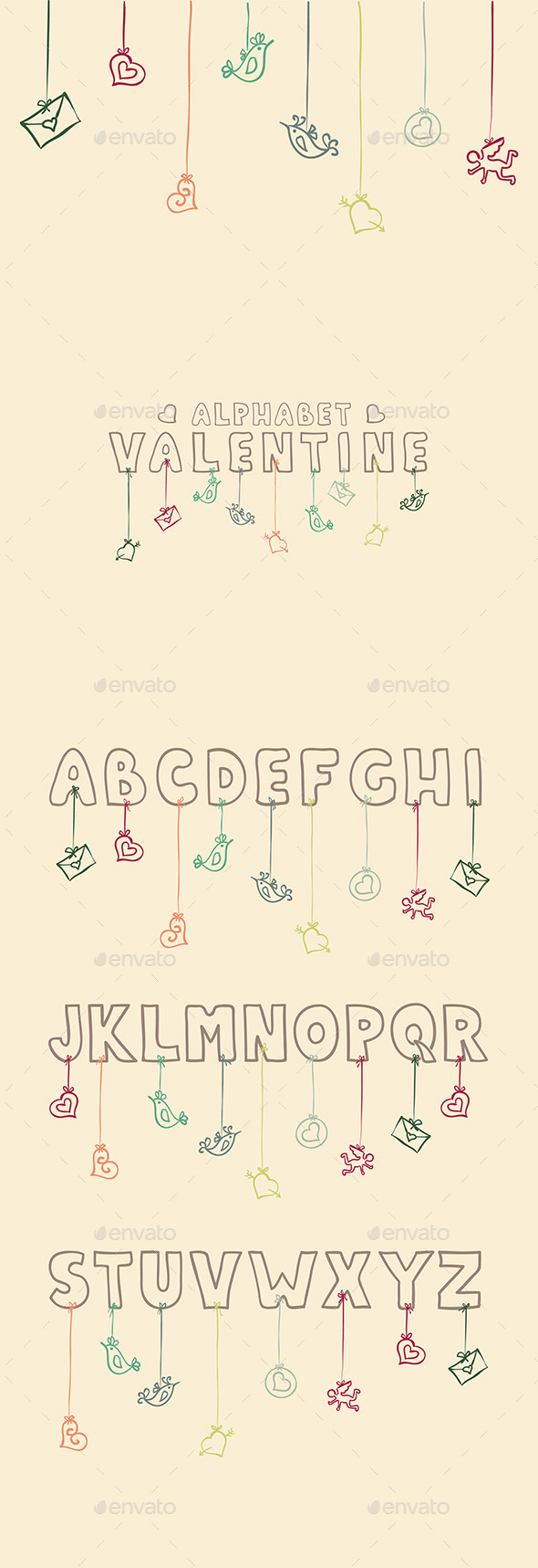GraphicRiver Valentine Alphabet 9766499