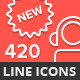 Fine Line Outline Icon Pack