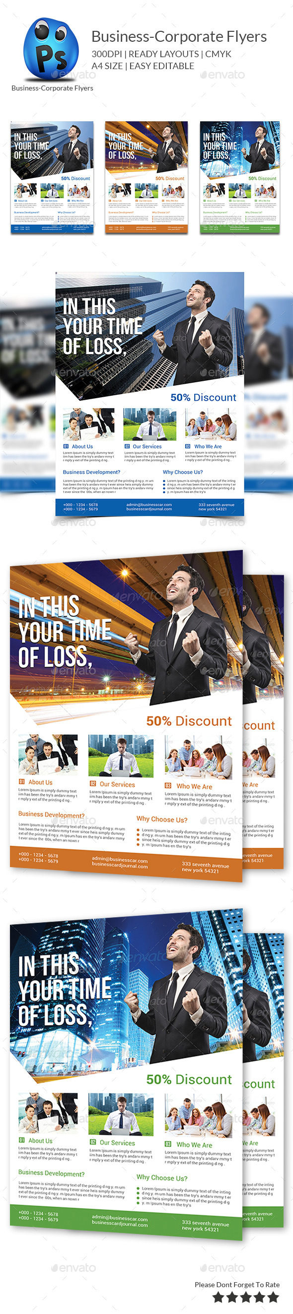 GraphicRiver Business Flyers Templates 9766589
