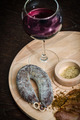 Meat fillet sausage and red wine - PhotoDune Item for Sale