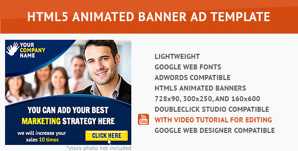 CodeCanyon Corporate HTML5 Animated Banner 2 9766707