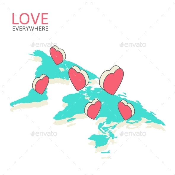 GraphicRiver Isometric Illustration for Valentine s Day 9766813