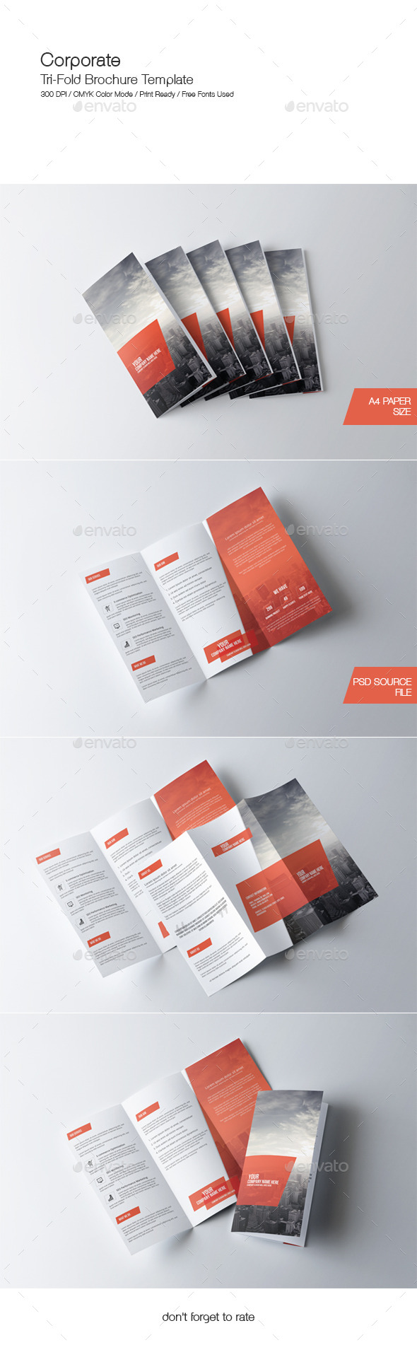 GraphicRiver Corporate Tri-Fold Brochure Template 9766860