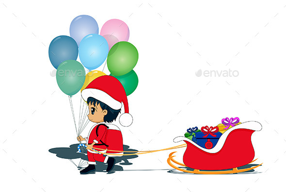GraphicRiver Child as Santa Claus 9766889