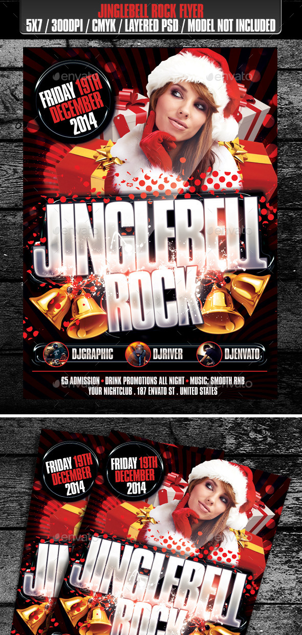 GraphicRiver Jinglebell Rock Club Flyer 9714664