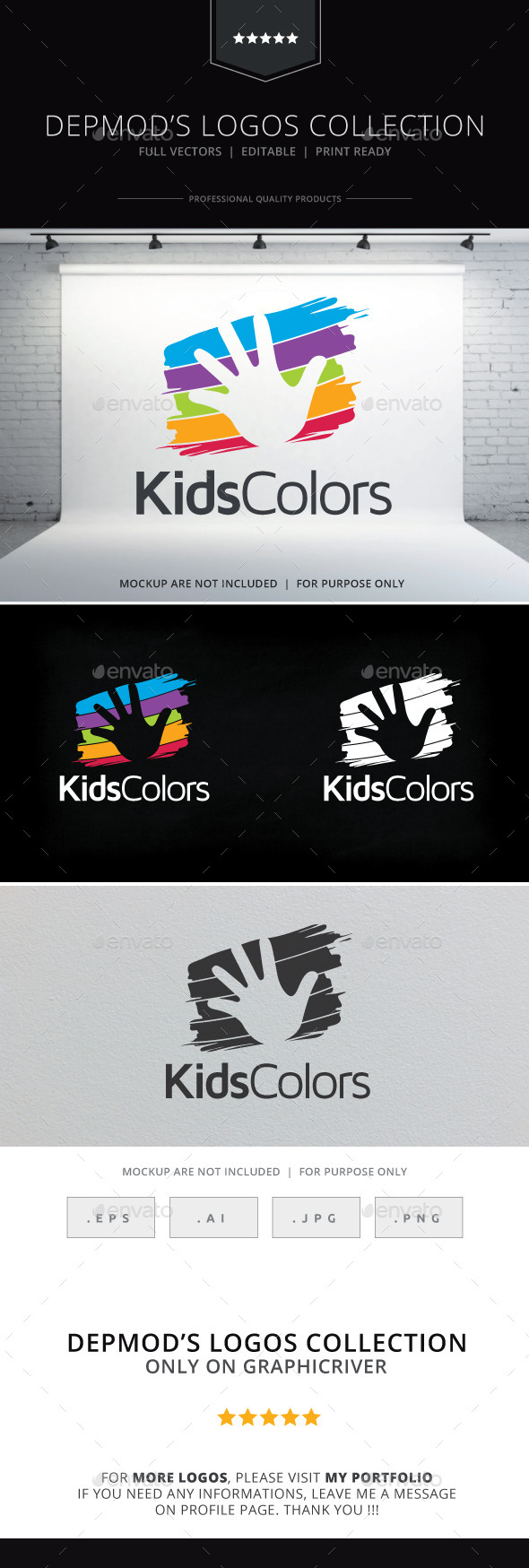 GraphicRiver Kids Colors Logo 9766907