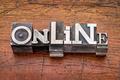 online word in metal type - PhotoDune Item for Sale