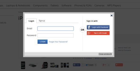 Awesome Facebook Google Login Registration Popup