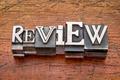 review word in metal type - PhotoDune Item for Sale