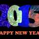 2015 Happy New Year text on black background - PhotoDune Item for Sale