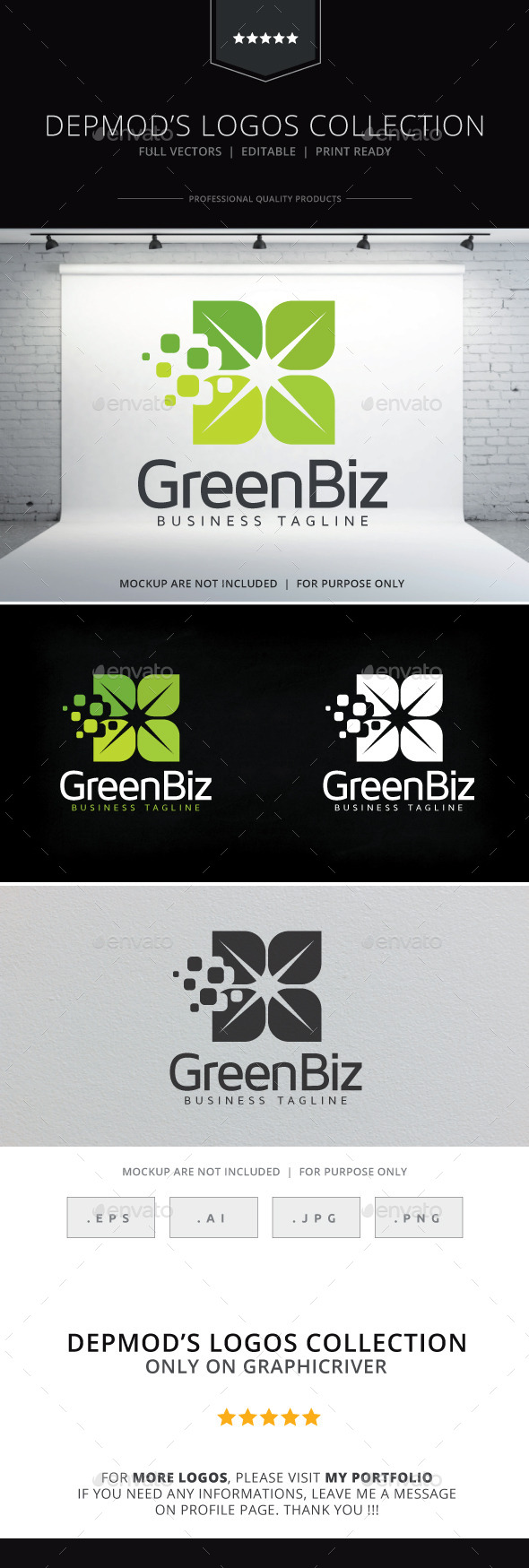 GraphicRiver Green Biz Logo 9767298