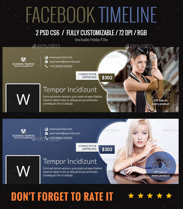 GraphicRiver Multipurpose Used Facebook Timeline 9767303