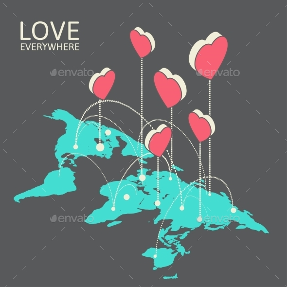 GraphicRiver Isometric Illustration for Valentine s Day 9767344