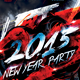 2015 New Year Party Flyer Template V2 - GraphicRiver Item for Sale