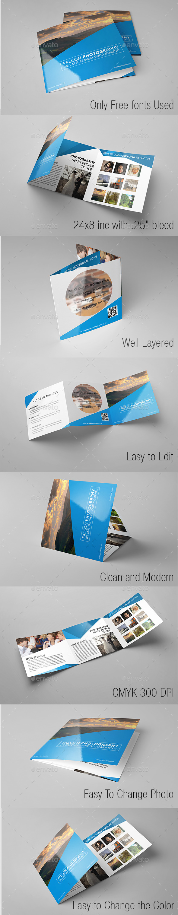 GraphicRiver Modern Photography Square Trifold 9767402
