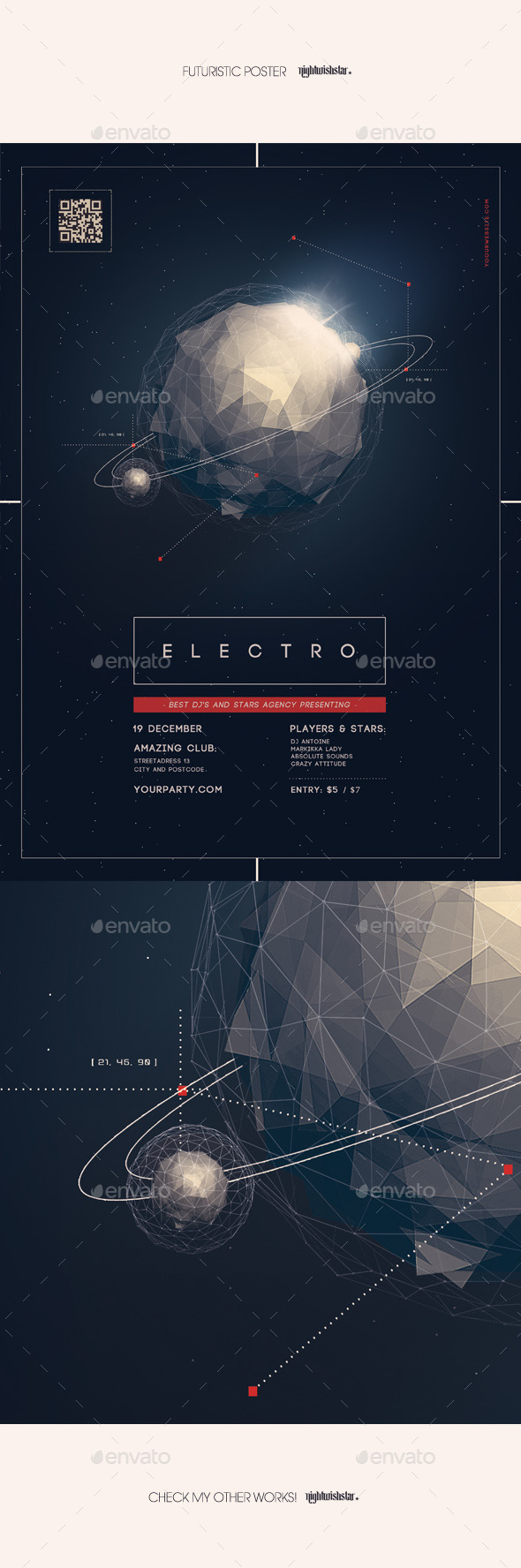 GraphicRiver Futuristic Party Poster 9767415