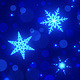Blue Snowflakes Christmas & New Year Background