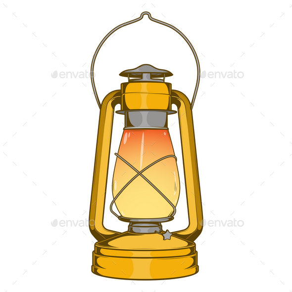 GraphicRiver Antique Brass Old Kerosene Lamp 9767638