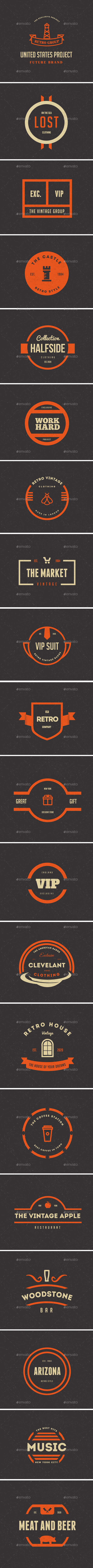 GraphicRiver 20 Vintage Logos Labels & Badges 9767831