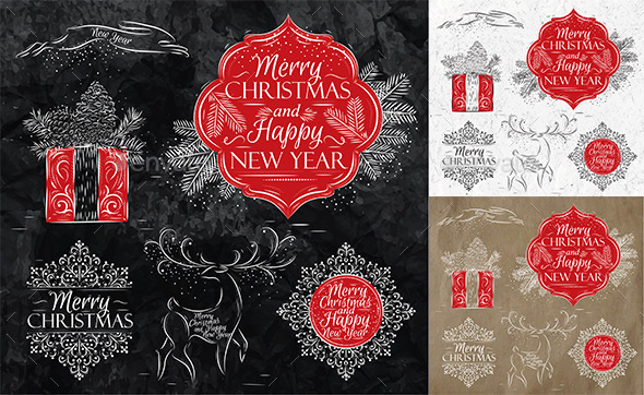 GraphicRiver Merry Christmas Graphics Collection 9767836