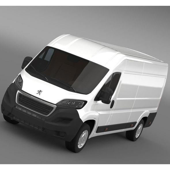 3DOcean Peugeot Boxer Van L4H2 2014 9768104