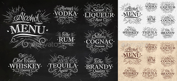 GraphicRiver Alcohol Menu 9768159